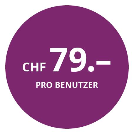 CHF 79.– pro Benutzer