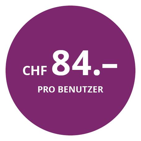 CHF 84.– pro Benutzer