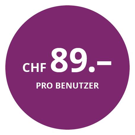 CHF 89.– pro Benutzer